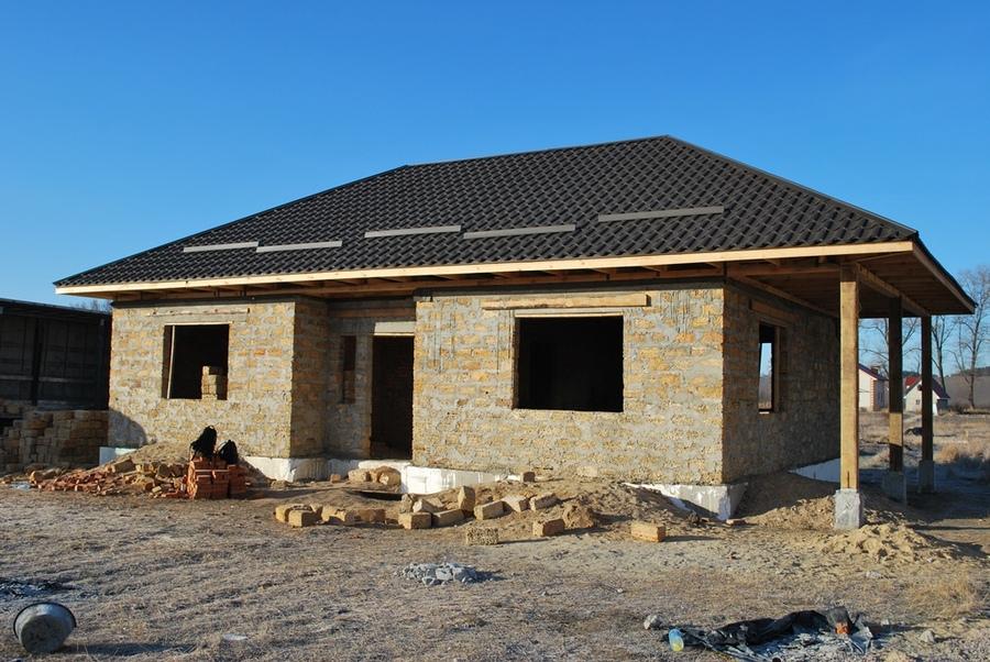 Одноэтажный дом из керамзитобетонных блоков